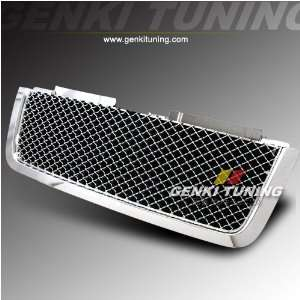 Genki Tuning   2006 2007 2008 Chevy Trail Blazer ABS Front Hood Chrome