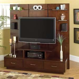 Rustic western tv wall unit tv stand entertainment center - Simple tv wall unit designs ...
