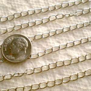 10 Feets Silvertone Extender Chain 3cm~Jewelry Making