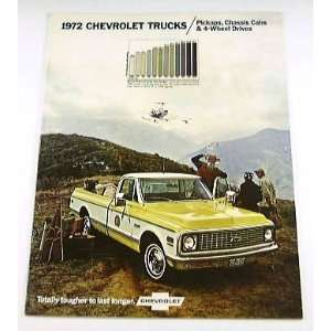1972 72 Chevy CHEVROLET TRUCK BROCHURE Pickup C10 K20
