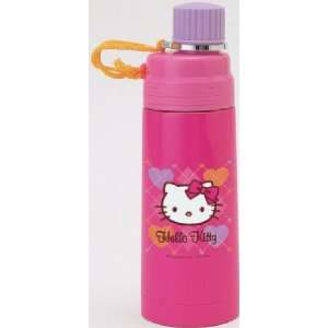 Hello Kitty Stainless Steel Bottle Pink Argyle Sports