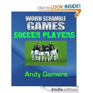WORD SCRAMBLE GAMES SOCCER PLAYERS   Sport Series For Family Fun And