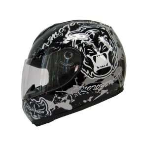 Tms Black/grey Tiger Full Face Motorcycle Biker Helmet