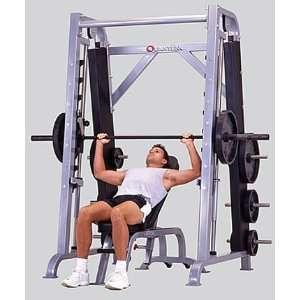 Quantum Fitness Angled Smith Machine with Plate Racks