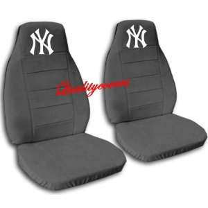 2 Charcoal New York car seat covers for a 2001 Toyota