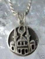 Kaabah Pendant Mosque Allah Silver Islam Jewelry Charm