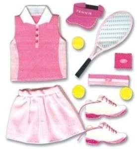 Jolees Pep Rally Pink Girls Tennis Uniform 3D Stickers