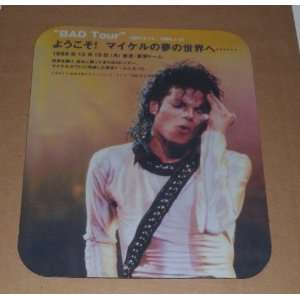 MICHAEL JACKSON Bad Tour COMPUTER MOUSE PAD Everything