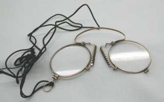 Antique Pair of 9ct Solid Rose Gold Framed Spectacles