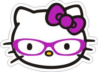 Hello Kitty (Nerd / Glasses) Sticker   3.5 x 4.75