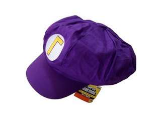 Super Mario Bros Waluigi hat Cap cosplay Hats Costumes