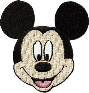 Walt Disneys Mickey Mouse Classic Smiling Face Patch
