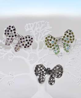 Stylized Big Butterfly Rhinestone Fashion Ring (JS0530)
