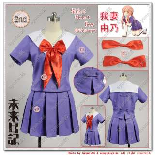 The Future Diary Mirai nikki 2nd Gasai Yuno Cosplay Costume Any Size