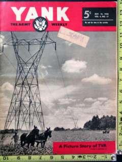 Original Yank Magazine WWII News October 12, 1945
