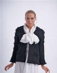 CHANEL 07A Black Wool Jacket Size 42