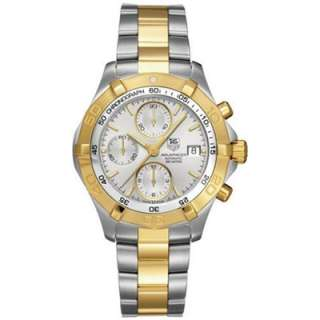 NEW TAG Heuer Mens CAF2120.BB0816 Aquaracer 18k Gold Tone & Steel