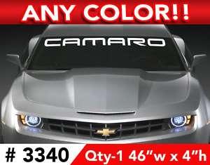 CHEVY CAMARO RS SS WINDSHIELD DECAL STICKER 46w x 4h