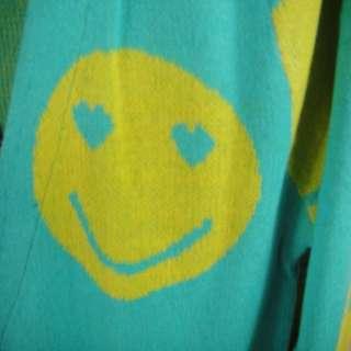 Korean Women Smile Face Knit Cardigan Jacket Coat 2 Colors 0983
