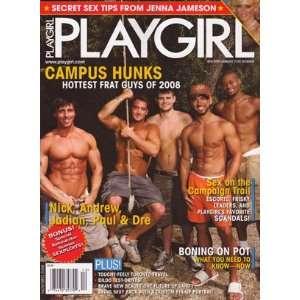 Playgirl Nov/Dec 2008 (Campus Hunks!!): Playgirl Magazine