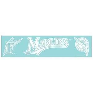 MLB Florida Marlins 4x16 Die Cut Decal
