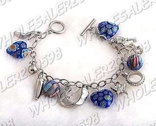 WHOLESALE 17strands Handwork Heart Glass Bead Bracelets