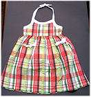NWT New Gymboree Palm Beach Paradise Plaid Halter Dress 2T 2 Years