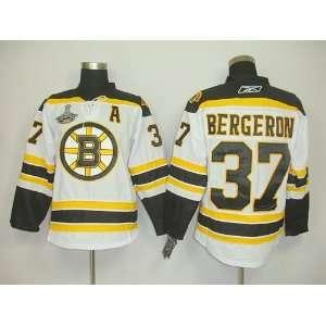Patrice Bergeron #37 NHL Boston Bruins White Hockey Jersey