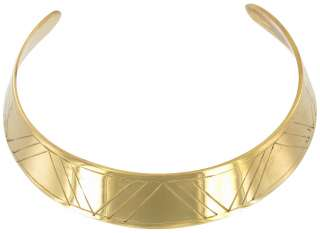 Vintage Brass Gold Tone India Collar Choker Necklace Statement