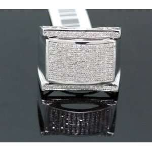 Mens Solid Gold Diamond Ring SVR 5661: Jewelry