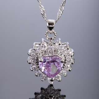 30% OFF Fashion Jewelry Heart Purple Tanzanite White Gold GP Pendant
