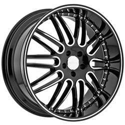 22 Inch Menzari Z10 Staggered black wheels rims DODGE CHARGER MAGNUM