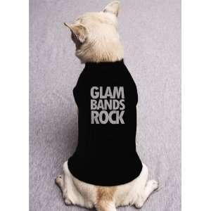 GLAM ROCK RULES twisted sister kiss david bowie band DOG SHIRT SIZE M