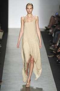 1480 NWT BCBG MAX AZRIA RUNWAY 2010 SILK ASYMMETRICAL BEADED DRESS