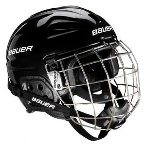 NEW! Bauer Lil Sport Youth Hockey Skiing Skating Helmet WITH CAGE Bk