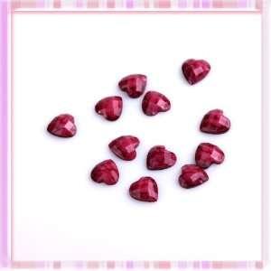 Hot Sell Lady Fasion Elegant Pruple Heart shaped Diy Decoration Art