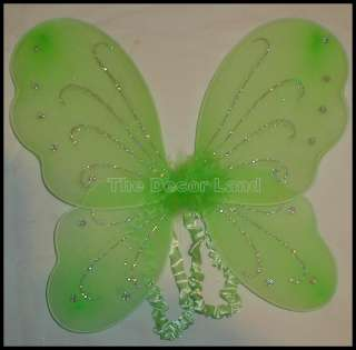 Green Fairy WINGS Girls Dress up Birthday Party PHOTO