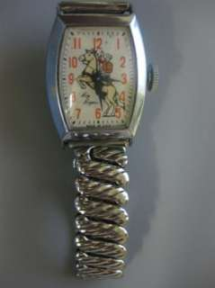 Vintage Roy Rogers Watch Original Working! ENGRAVED! NM