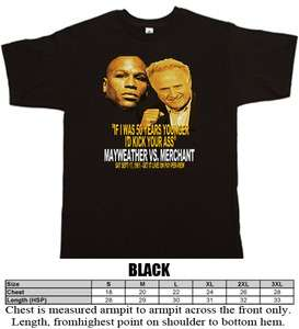 Mayweather Jr vs Larry Merchant Boxing funny 50 years younger t shirt