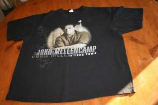 John Cougar concert Shirt In Your Town Tour ize X Large