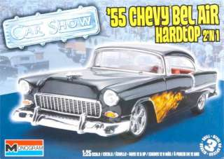NEW! Monogram 1/25 1955 Chevy Bel Air Hardtop 2 n1 854295 NIB