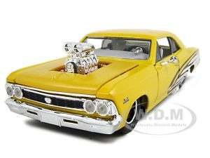 1966 CHEVROLET CHEVELLE SS 396 YELLOW 124 PRO STREET