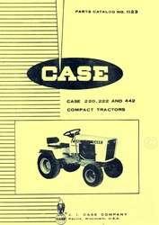 Case 220 222 442 Garden Tractor Parts Catalog Manual
