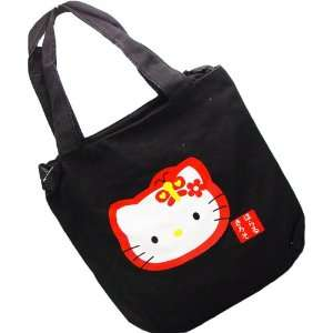 Hello Kitty Tote Bag in Black with Big Hello Kitty Icon Toys & Games