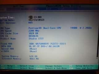 Dell Studio 1737 SKINIT LCD COVER CAMERA 2.2GHZ 4GB WINDOWS 7 PRO