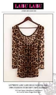USD N82 Sexy Fashion Women Leopard Halter Back Close Cocktail T Shirt