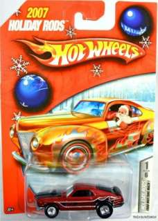 HOT WHEELS RED FORD MUSTANG MACH 1 2007 HOLIDAY RODS #L0095 NRFP MINT