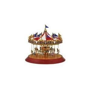 Mr. Christmas Worlds Fair Animated Music Box   Carousel