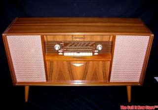 Vintage 1962 Emud 1010 Germany Console AM FM SW Radio Record Changer