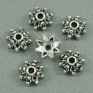description 140pcs Tibetan silver flower beadscaps h3000
